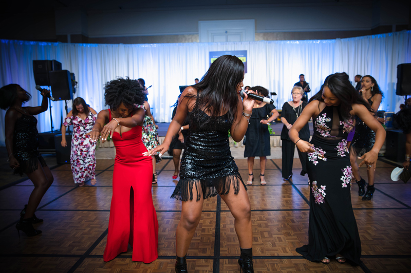 I Love This Band singer on dance floor during HomeTown Gala in Atlanta