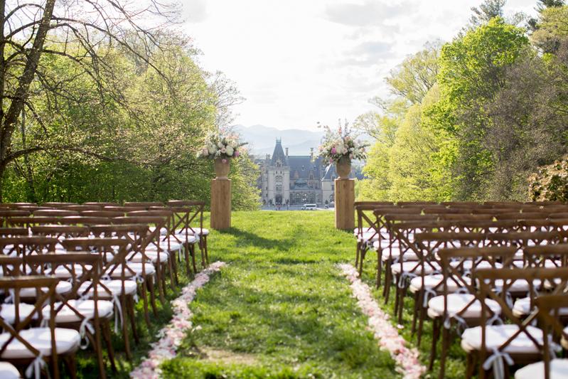 Wedding ceremony site overlooking Biltmore Estate