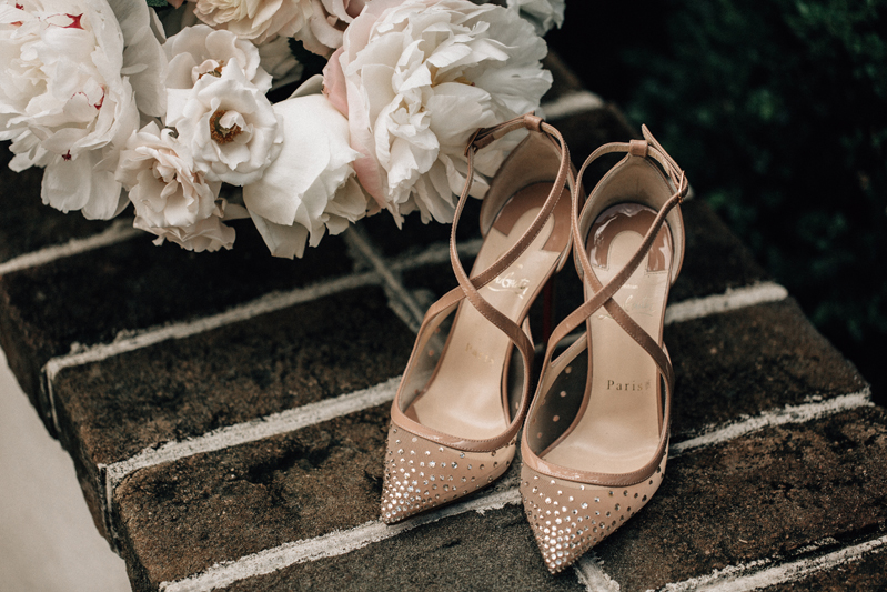 christian louboutin blush wedding shoes