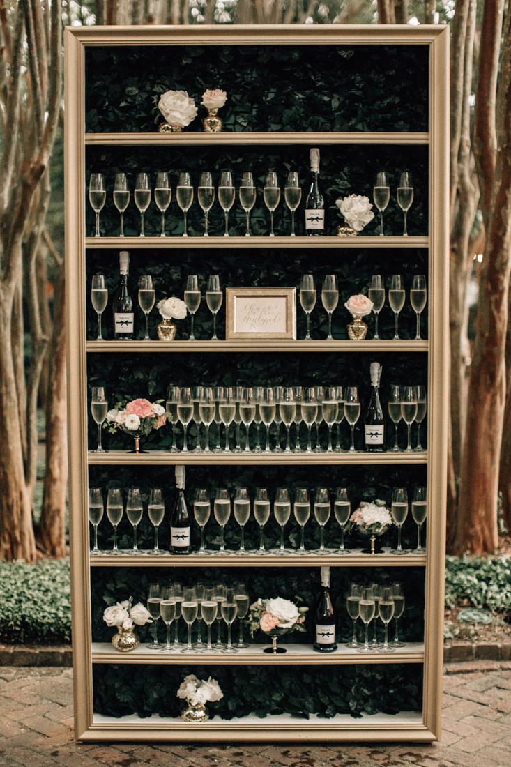 Chloe champagne wall