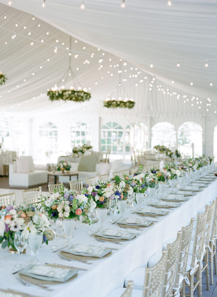 Tented wedding reception at Sun Valley Resort