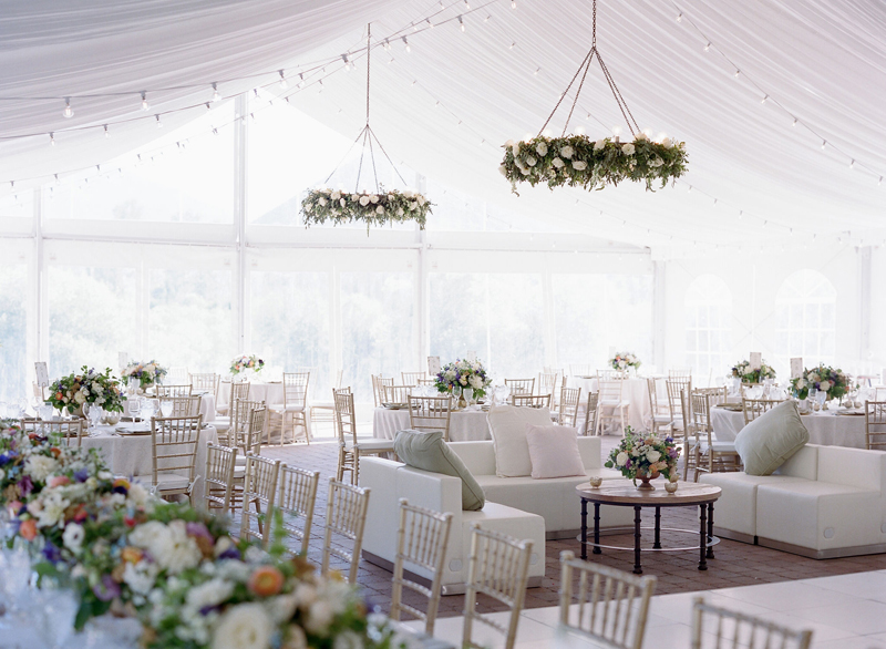 Tented wedding reception in Sun Valley
