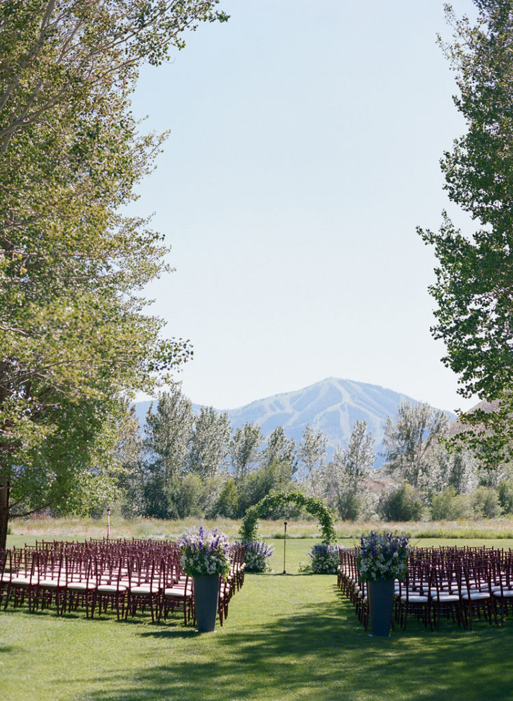 Ceremony setup at Sun Valley wedding
