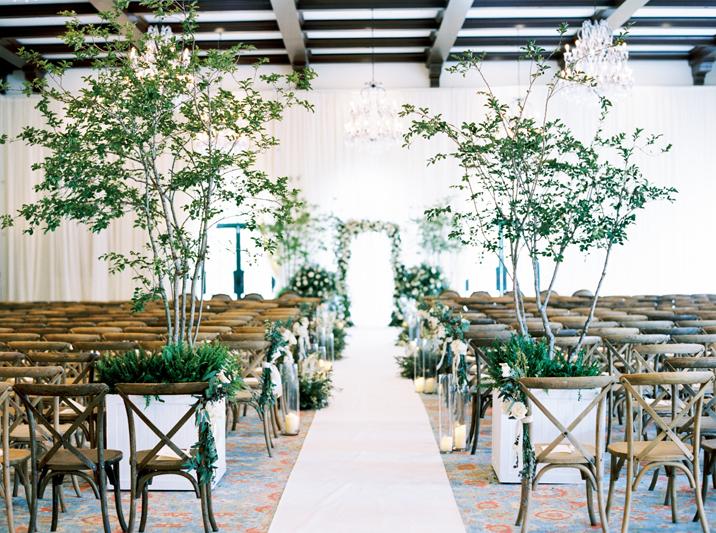 Ceremony space at Sea Island wedding